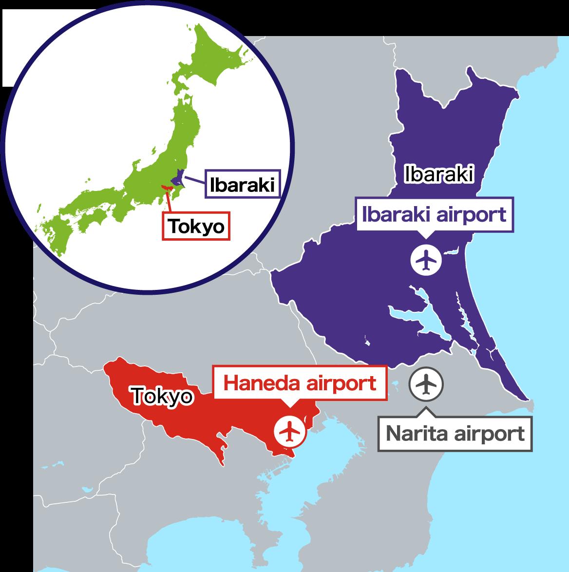 茨城県周辺地図