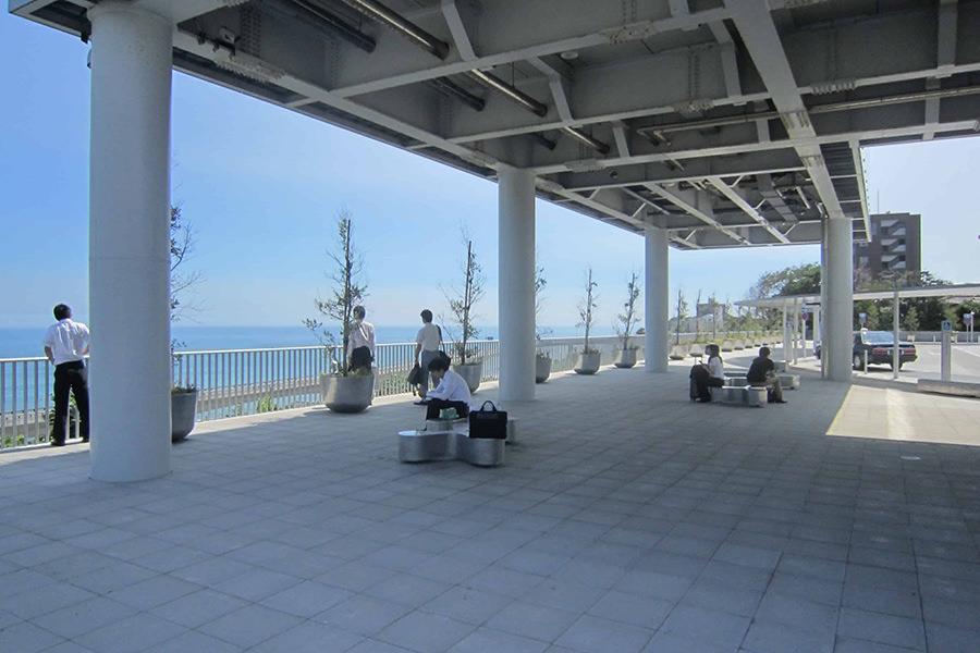 日立駅海岸口駅前広場